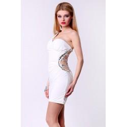 4314-4 Sukienka Look like a star - biały