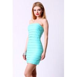 4313-4 Sukienka damska - Trendy : soczysta zieleń